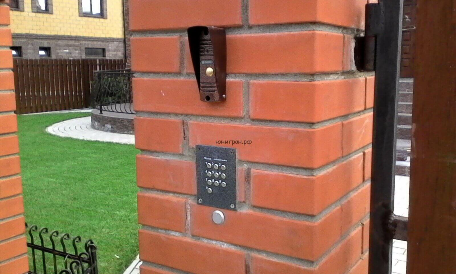 видеодомофон и кодонаборная панель