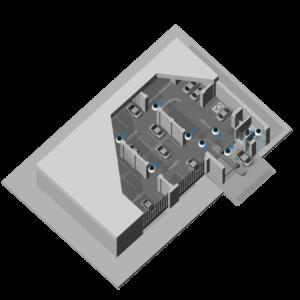видеонаблюдение подземная парковка