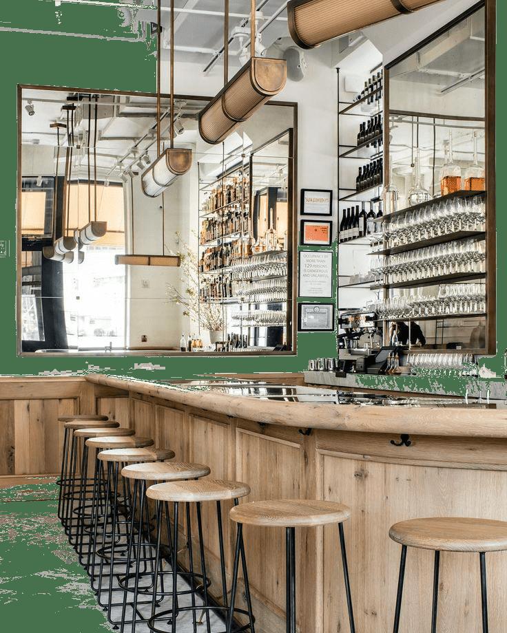 барная стойка в кафе