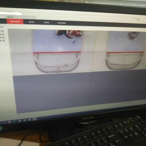 камеры наблюдения над ледовой площадкой