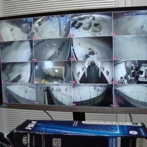 система видеонаблюдения на ледовой арене