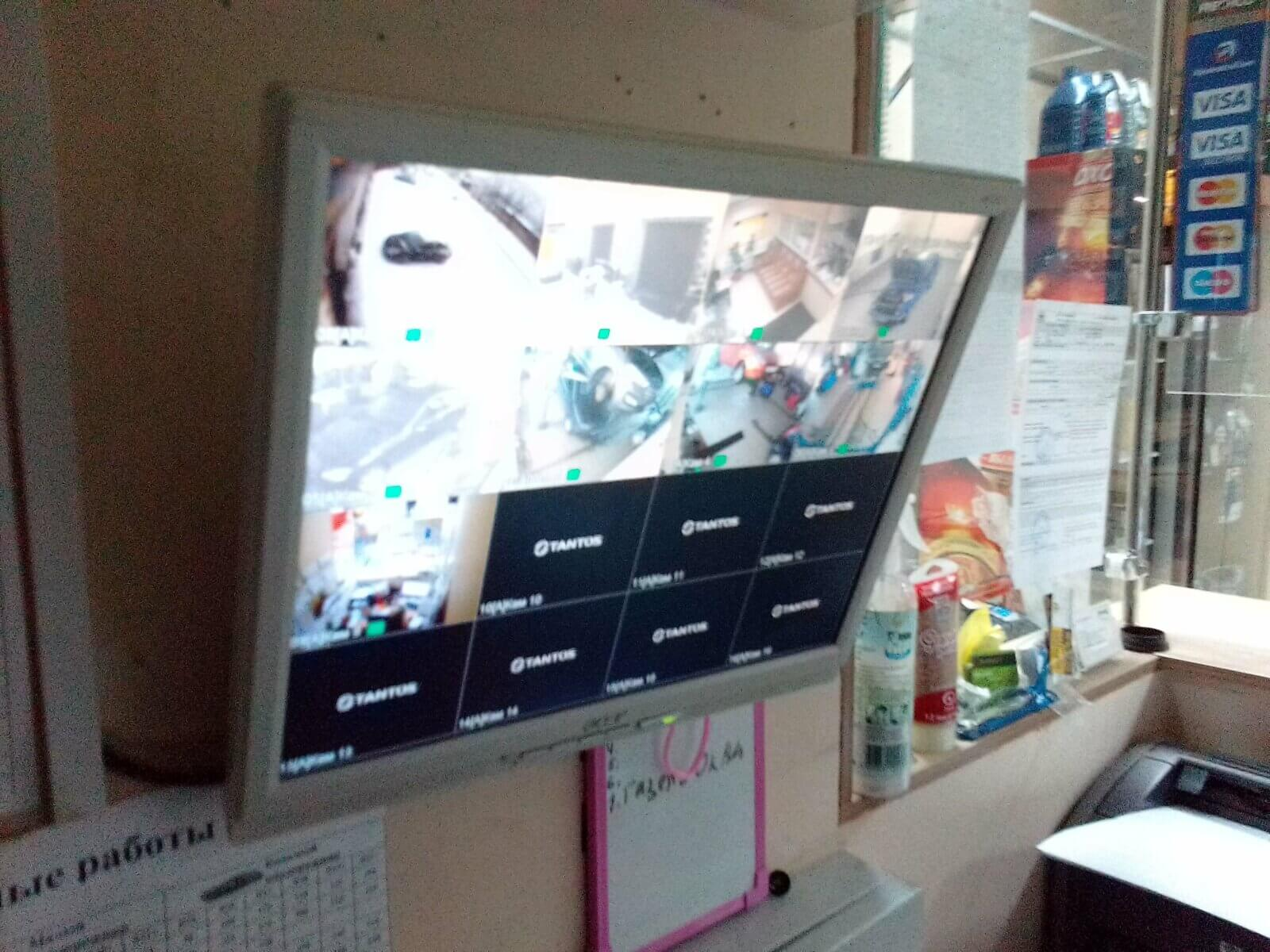 видеонаблюдение в автосервисе